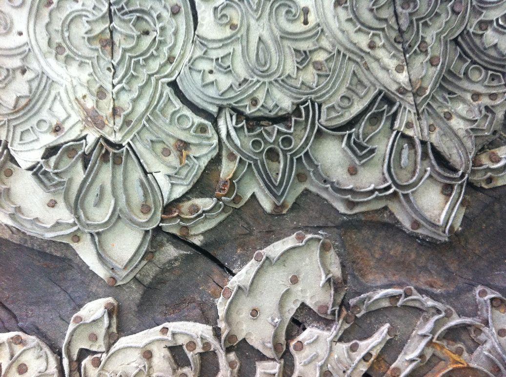 фрагменты манер в музее шали