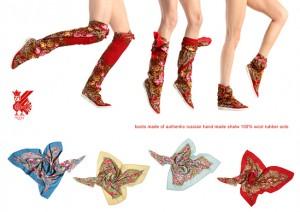 Обувь из павлопосадских платков