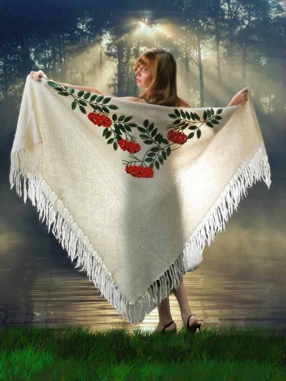 Поздравление на подарок платок 49
