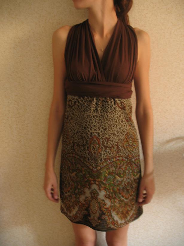 Сшить платье из палантина