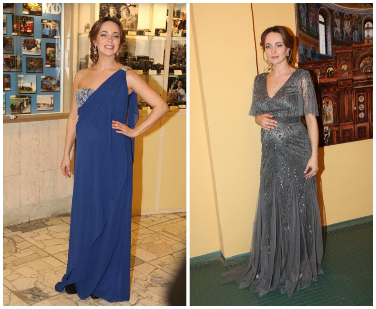 Звезды в платьях для беременных 276